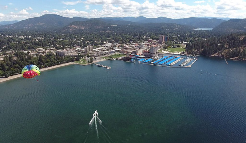 The view of Coeur d' Alene